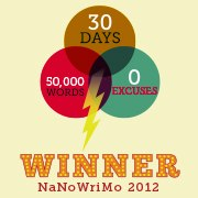 NaNoWriMo Winner Badge 2012