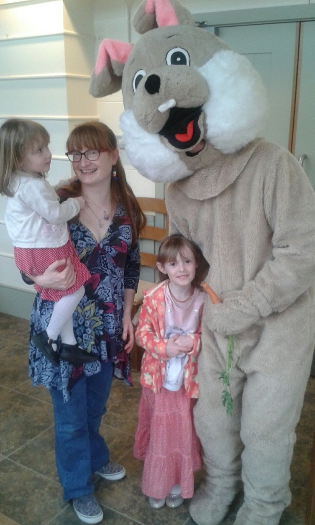 SpookyMrsGreen meets the Easter Bunny