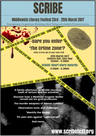 ScribeFest Crime Zone Brochure Cover