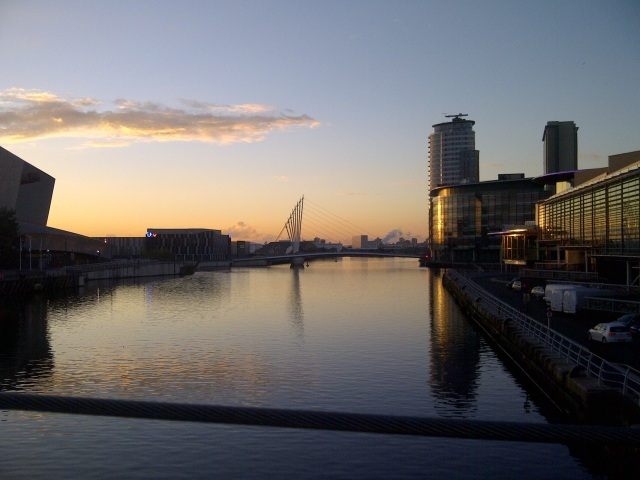 Sunset over Salford Quays SpookyMrsGreen