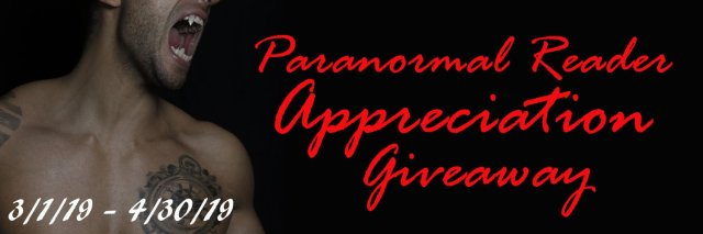 Paranormal Readers Appreciation Giveaway March April