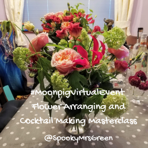 #MoonpigVirtualEvent Flower Arranging and Cocktail Making Masterclass